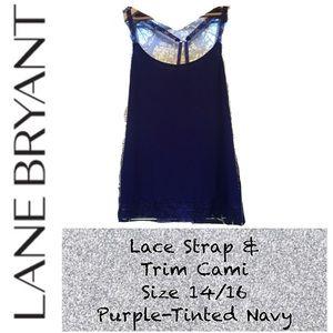 EUC Lane Bryant Lace Strap & Trim Cami